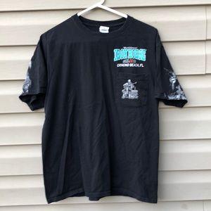 Anvil men's 'Iron Horse Saloon' black&white Shirt